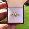 4.71ct Antique Light Yellow Emerald Cut Diamond Ring GIA WX VS 10