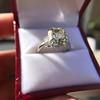 4.71ct Antique Light Yellow Emerald Cut Diamond Ring GIA WX VS 3