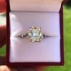4.71ct Antique Light Yellow Emerald Cut Diamond Ring GIA WX VS 11