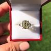 4.71ct Antique Light Yellow Emerald Cut Diamond Ring GIA WX VS 7