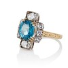 4.85ctw Antique Diamond and Zircon Cruciform-Motif Ring 1