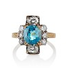 4.85ctw Antique Diamond and Zircon Cruciform-Motif Ring 0