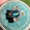 4.85ctw Antique Diamond and Zircon Cruciform-Motif Ring 16