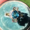 4.85ctw Antique Diamond and Zircon Cruciform-Motif Ring 5