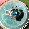 4.85ctw Antique Diamond and Zircon Cruciform-Motif Ring 14