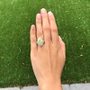 5.01ct Art Deco Opal and Diamond Ring 14
