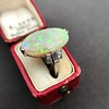 5.01ct Art Deco Opal and Diamond Ring 7