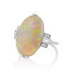 5.01ct Art Deco Opal and Diamond Ring 1