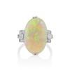 5.01ct Art Deco Opal and Diamond Ring 0