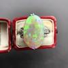 5.01ct Art Deco Opal and Diamond Ring 5