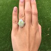 5.01ct Art Deco Opal and Diamond Ring 11