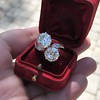 5.15ctw Old European Cut Diamond Toi et Moi Ring 15