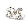5.15ctw Old European Cut Diamond Toi et Moi Ring 0