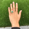 5.34ctw Emerald and Old Mine Cut Diamond Cluster Ring 10