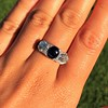 5.49ctw Edwardian Sapphire and Old European Cut Diamond Trilogy Ring 16