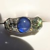5.49ctw Edwardian Sapphire and Old European Cut Diamond Trilogy Ring 25