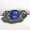5.49ctw Edwardian Sapphire and Old European Cut Diamond Trilogy Ring 28