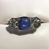 5.49ctw Edwardian Sapphire and Old European Cut Diamond Trilogy Ring 19