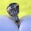 5.49ctw Edwardian Sapphire and Old European Cut Diamond Trilogy Ring 11