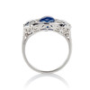 5.49ctw Edwardian Sapphire and Old European Cut Diamond Trilogy Ring 2