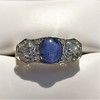 5.49ctw Edwardian Sapphire and Old European Cut Diamond Trilogy Ring 21