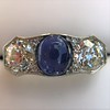 5.49ctw Edwardian Sapphire and Old European Cut Diamond Trilogy Ring 4