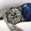5.49ctw Edwardian Sapphire and Old European Cut Diamond Trilogy Ring 23