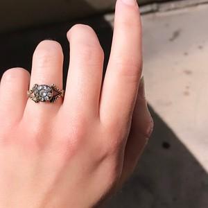 .58ctw Georgian Snake Motif Cluster Ring Ring