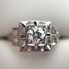 0.58ctw Old European Cut Diamond Art Deco Illusion Ring 12