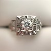 0.58ctw Old European Cut Diamond Art Deco Illusion Ring 17