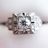 0.58ctw Old European Cut Diamond Art Deco Illusion Ring 4