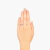 0.58ctw Old European Cut Diamond Art Deco Illusion Ring 3