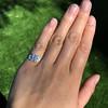 0.58ctw Old European Cut Diamond Art Deco Illusion Ring 6