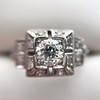 0.58ctw Old European Cut Diamond Art Deco Illusion Ring 10