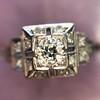 0.58ctw Old European Cut Diamond Art Deco Illusion Ring 13