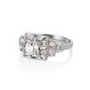 0.58ctw Old European Cut Diamond Art Deco Illusion Ring 1