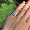0.58ctw Old European Cut Diamond Art Deco Illusion Ring 15
