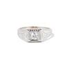 .60ct (est) Antique Old European Cut Diamond Engraved Man's Ring 0