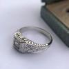 .60ct (est) Antique Old European Cut Diamond Engraved Man's Ring 10
