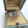 .60ct (est) Antique Old European Cut Diamond Engraved Man's Ring 14