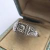 .60ct (est) Antique Old European Cut Diamond Engraved Man's Ring 15