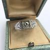 .60ct (est) Antique Old European Cut Diamond Engraved Man's Ring 13