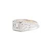.60ct (est) Antique Old European Cut Diamond Engraved Man's Ring 1