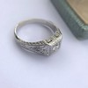 .60ct (est) Antique Old European Cut Diamond Engraved Man's Ring 5