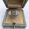 .60ct (est) Antique Old European Cut Diamond Engraved Man's Ring 6