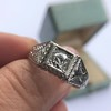 .60ct (est) Antique Old European Cut Diamond Engraved Man's Ring 8