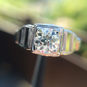.62ct Old European Cut Diamond Step Style Vintage Ring
