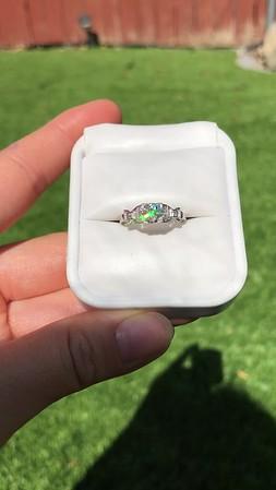 .64ctw Art Deco Old European Cut Diamond Buckle Motif Ring