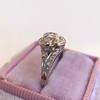 .71ct Vintage Old European Cut Diamond Heart Motif Ring, GIA J VS 10