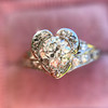 .71ct Vintage Old European Cut Diamond Heart Motif Ring, GIA J VS 9